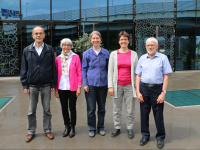 "Comitee of Oversea's Pastoral Solidarity <span class=""fotografFotoText"">(Foto:&nbsp;Doris&nbsp;Brodbeck)</span>: (from the left:) Christoph Waldmeier, Annelies B&ouml;sch, Christian Zurbuchen, Doris Brodbeck, Jakob B&ouml;sch<div class='url' style='display:none;'>/</div><div class='dom' style='display:none;'>pfarrverein.ch/</div><div class='aid' style='display:none;'>3286</div><div class='bid' style='display:none;'>2431</div><div class='usr' style='display:none;'>269</div>"